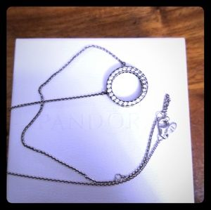 Authentic Pandora Circle of Sparkle Necklace